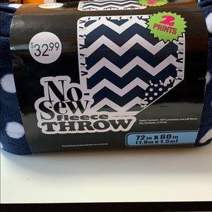 Other - No-sew fleece throw